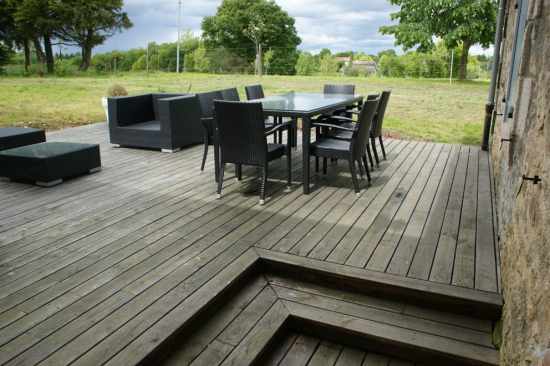 terrasse bois chataignier. Black Bedroom Furniture Sets. Home Design Ideas